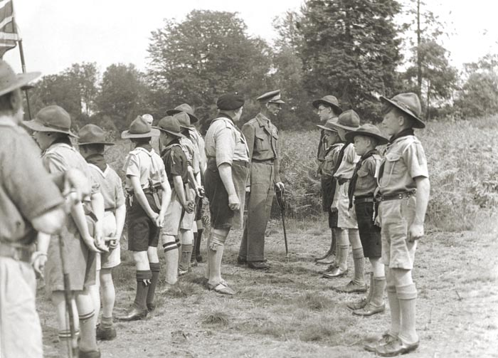 Crawley Scout Troup, Buchan Park, Crawley, 1946