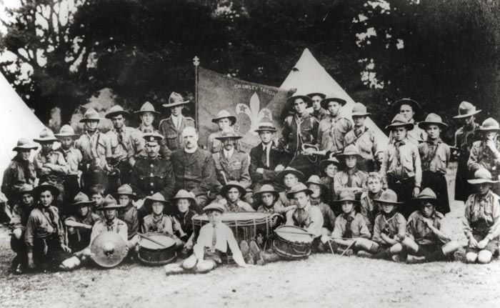 Scout Camp, Crawley Troop, Three Bridges, Crawley, c.1915